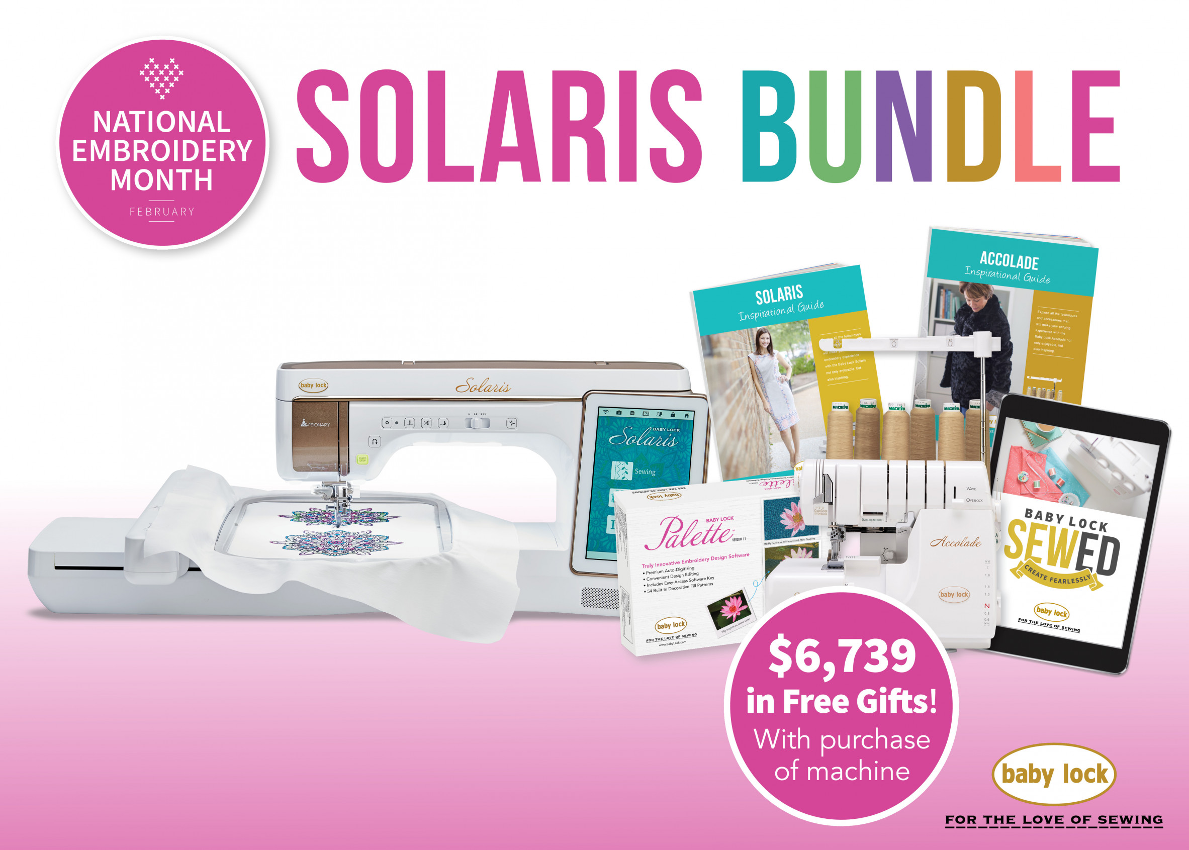 Baby Lock Solaris embroidery and sewing machine special offer