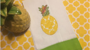 IQ PINEAPPLE APPLIQUE TEA TOWEL.jpg