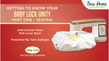 Unity - Sewing Machine - Baby Lock Products