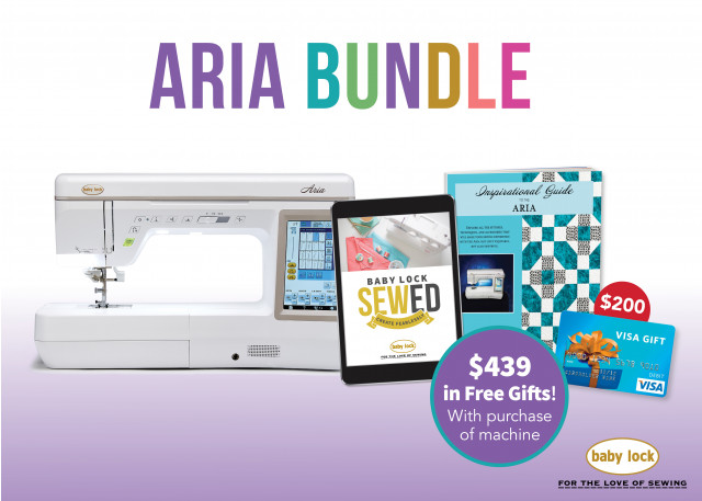 Baby Lock Aria sewing and quilting machine special offer