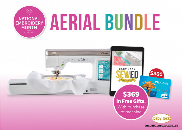 Baby Lock Aerial sewing and embroidery machine special offer